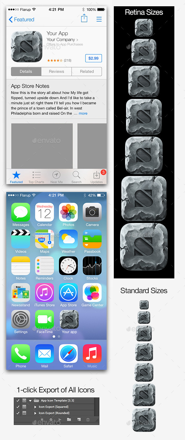 GraphicRiver Stone iOS Icon Maker 8737187
