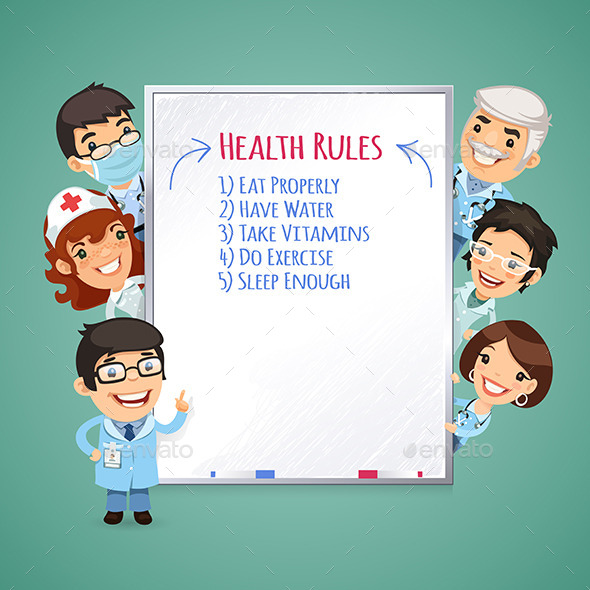 GraphicRiver Doctors Presenting White Board 8805049