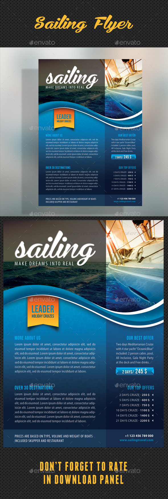 GraphicRiver Sailing Yacht Travel Flyer 01 8793930