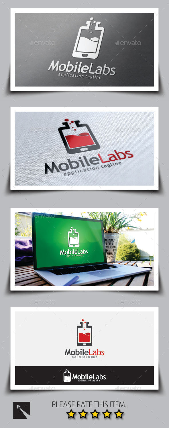 GraphicRiver Mobile Lab Logo Template 8805342