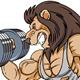 Lion Mascot Bodybuilding