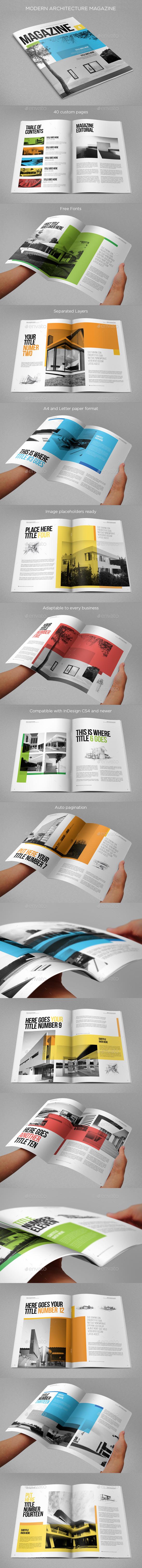 GraphicRiver Modern Architecture Magazine 8805408