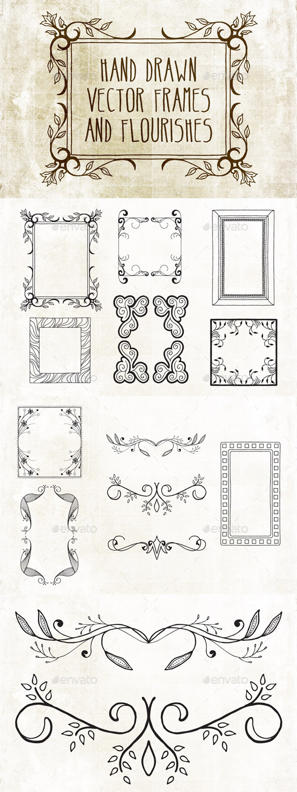 GraphicRiver Hand Drawn Frames Pack 2 8805410