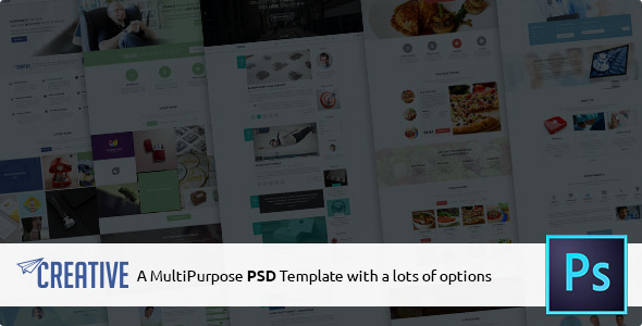Creative is a Multipurpose PSD Template with lots of options. It comes with bunch of options and variety of ready made template so you can start building you dr