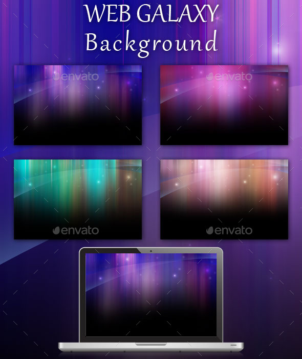 GraphicRiver Web Galaxy Background Pack 8805428