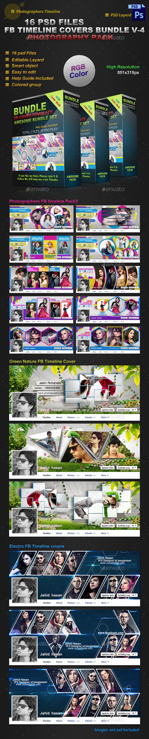 GraphicRiver Facebook Timeline Covers Bundle V-4 8808137