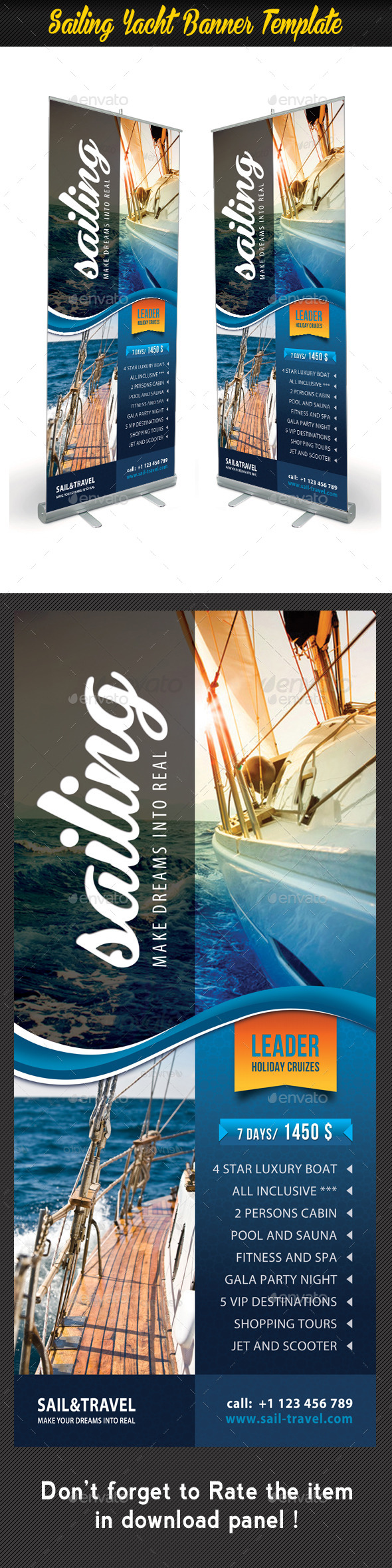 GraphicRiver Sailing Yacht Banner Template 01 8808149