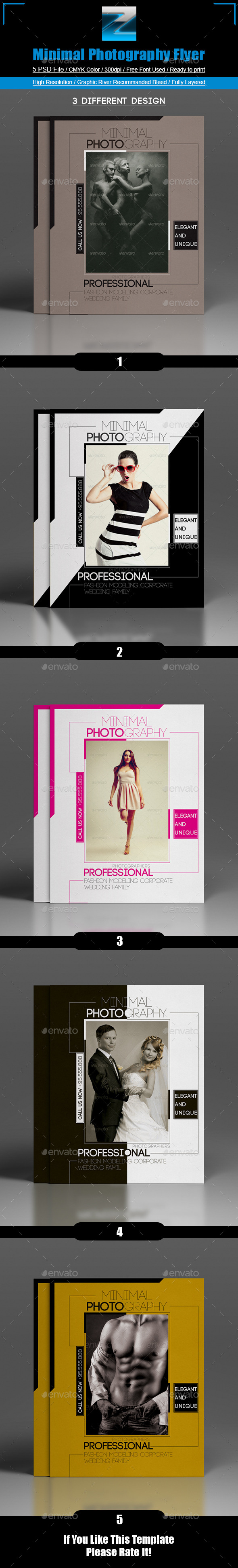 GraphicRiver Minimal Photography Flyer 8758438