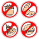 set of signs prohibiting fast food - PhotoDune Item for Sale