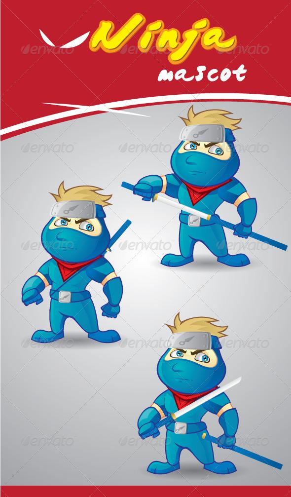Ninja Character Mascot - Characters Vectors