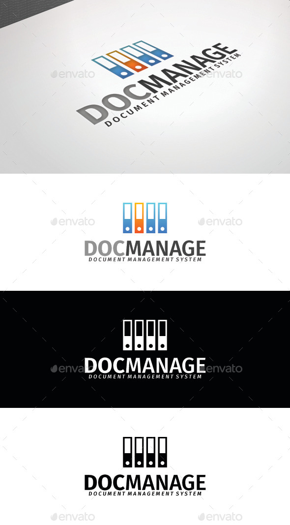 GraphicRiver Doc Manage Logo Template 8808279