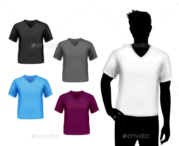 GraphicRiver T-shirts Male Set 8808603