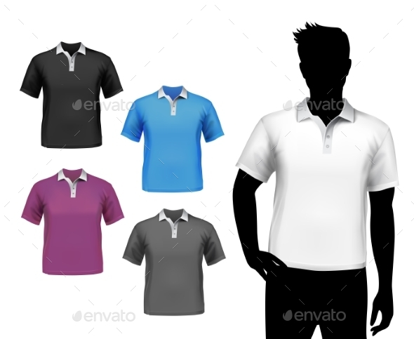 GraphicRiver T-Shirts Male Polo Set 8808885
