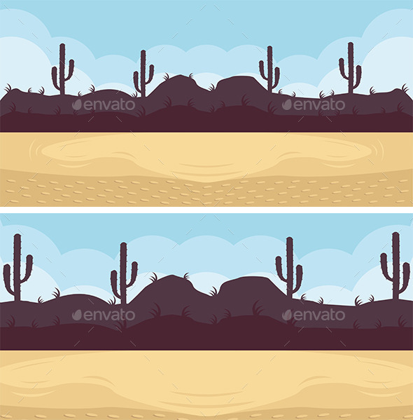 GraphicRiver Desert Game Background 8809028