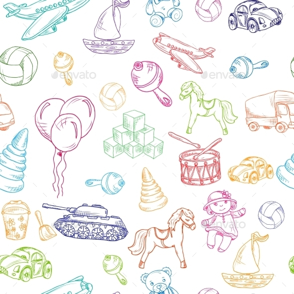 GraphicRiver Toys Seamless Pattern 8809153