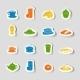 Breakfast Icon Sticker - GraphicRiver Item for Sale