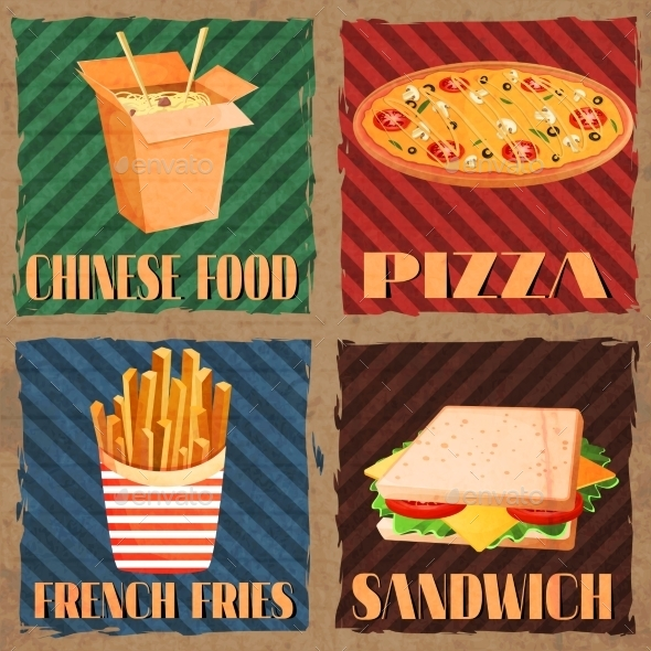 GraphicRiver Fast Food Menu Cards 8809202