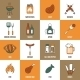 Bbq Line Icons - GraphicRiver Item for Sale