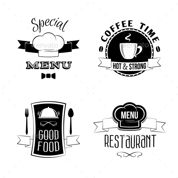 GraphicRiver Restaurant Menu Emblems Set 8809257