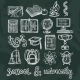 School Education Chalkboard Icons - GraphicRiver Item for Sale