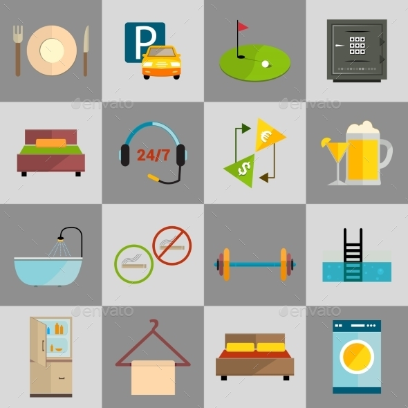 GraphicRiver Hotel Icons Set 8809293
