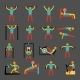 Workout Training Icons Set - GraphicRiver Item for Sale