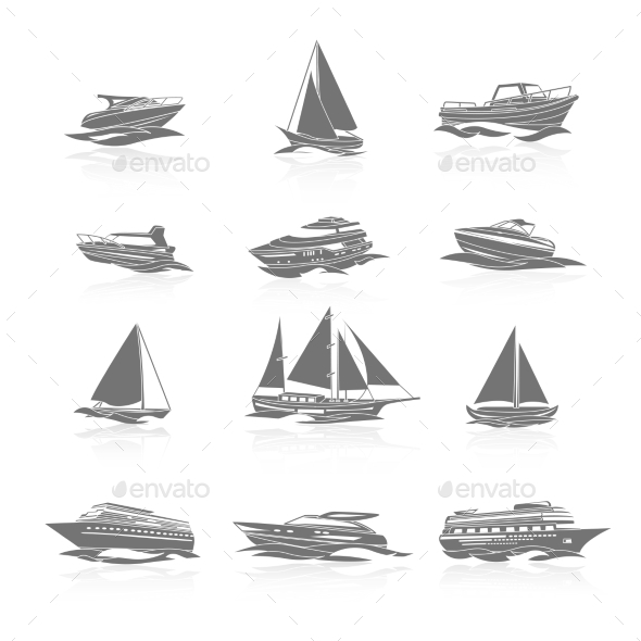 GraphicRiver Boats Icons Set 8809301