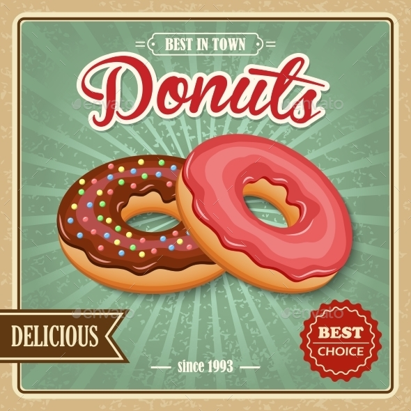 GraphicRiver Donut Retro Poster 8809302