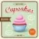 Cupcake Retro Poster - GraphicRiver Item for Sale