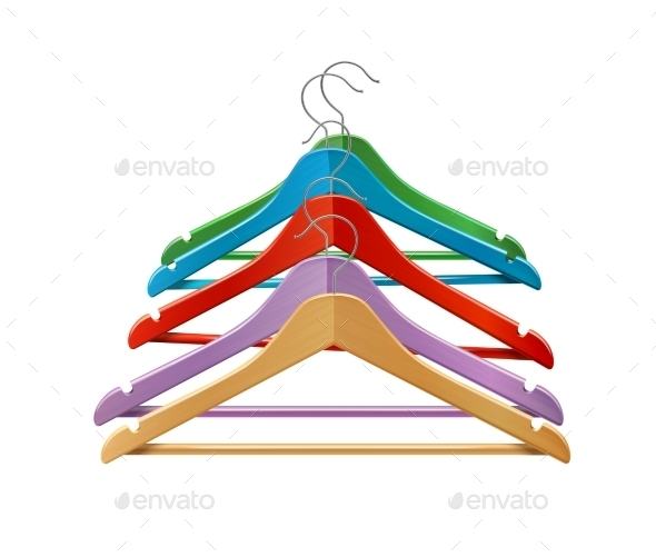 GraphicRiver Colored Clothes Hangers 8809310