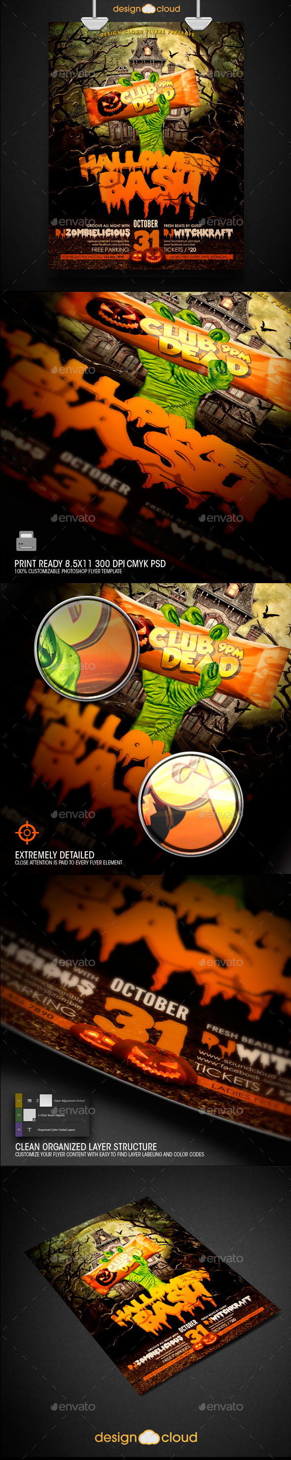 GraphicRiver Halloween Bash Flyer Template 8803086