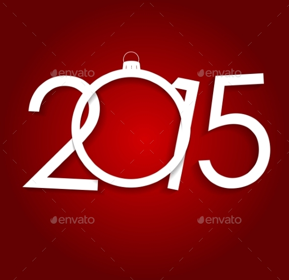 GraphicRiver New Year 2015 Christmas Background Vector Illustration 8809352