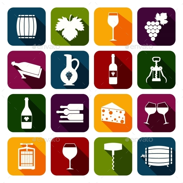 GraphicRiver Wine Icons Set 8809550
