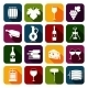 Wine Icons Set  - GraphicRiver Item for Sale