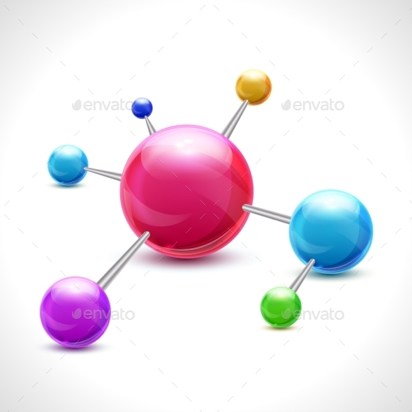 GraphicRiver Abstract 3D Molecule 8809551