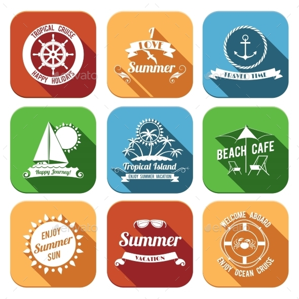 GraphicRiver Summer Icons Set 8809554