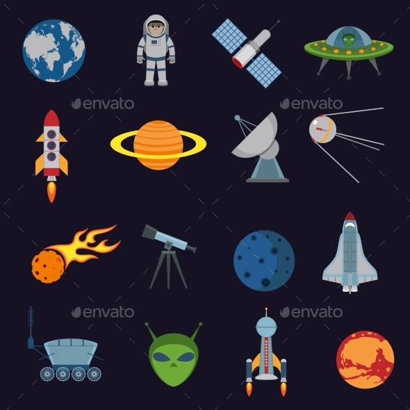 GraphicRiver Space and Astronomy Icons 8809556