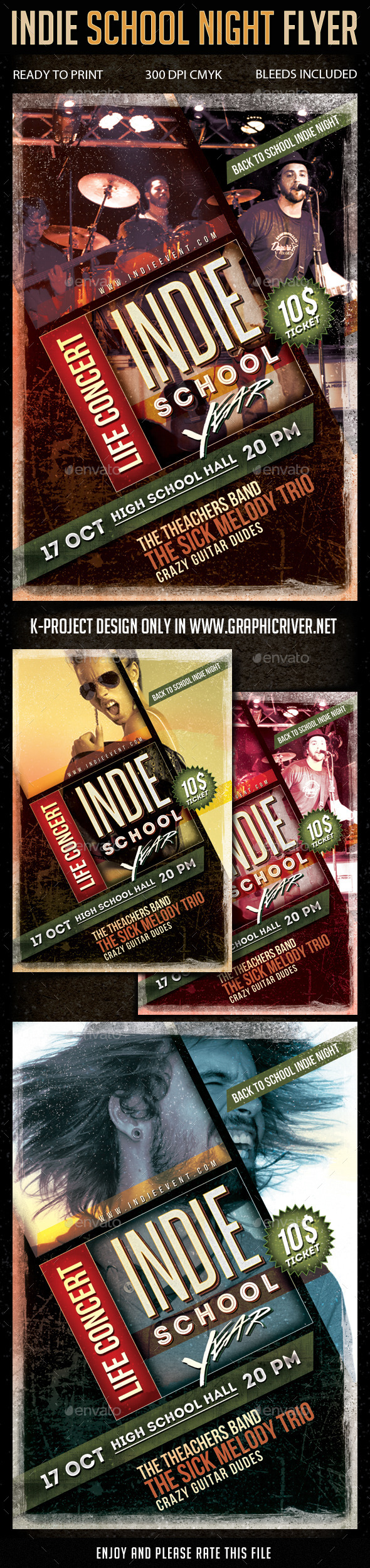 GraphicRiver Indie School Night Flyer 8809855
