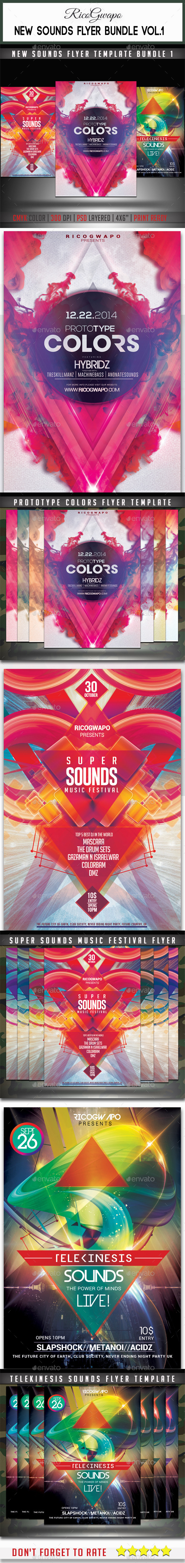 GraphicRiver Super Sounds Flyer Bundle Vol 1 8810682