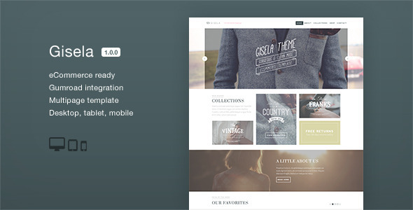 ThemeForest Gisela eCommerce Muse Template 8811086