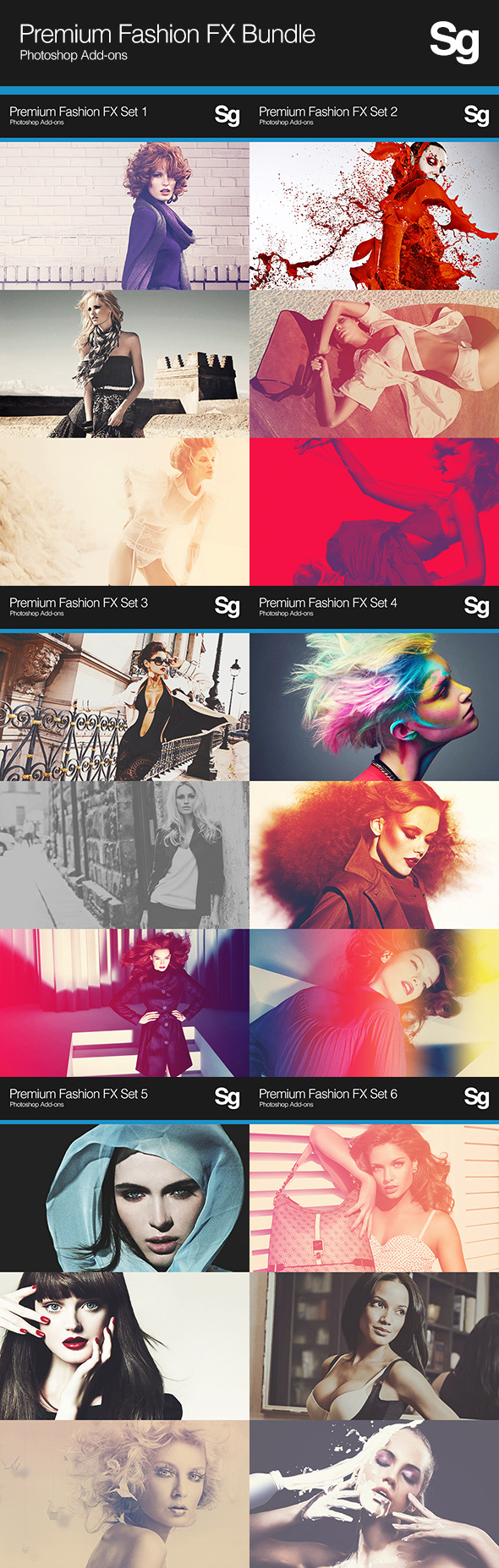 Premium Fashion FX Bundle - Photo Effects Actions