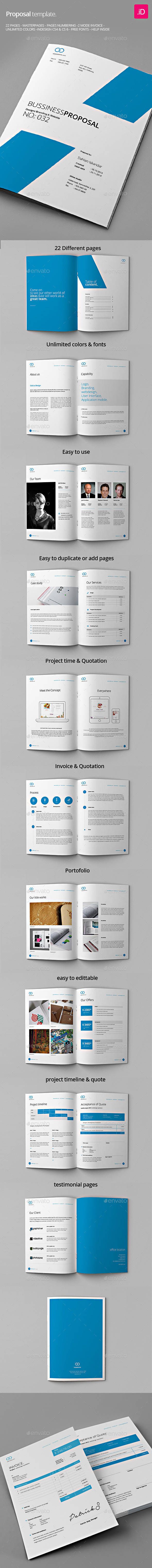 GraphicRiver Clean Proposals & Invoices 8811105