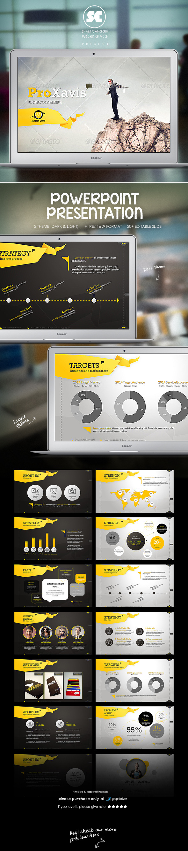 ProXavis : Modern Corporate Presentation - Business PowerPoint Templates