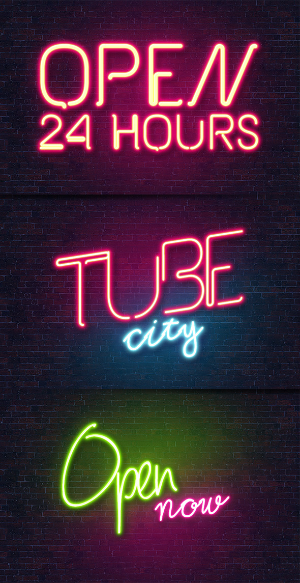 Awesome NEON Text Effect Style - Text Effects Actions