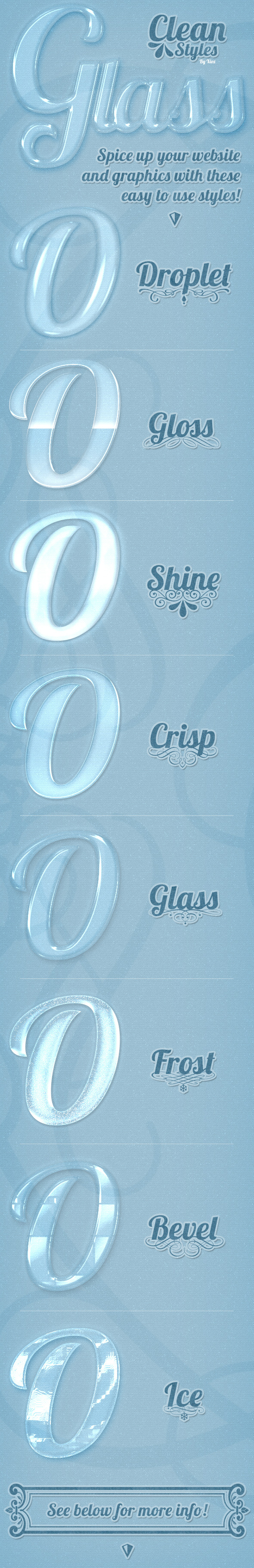 Clean Styles - Glass - Styles Photoshop