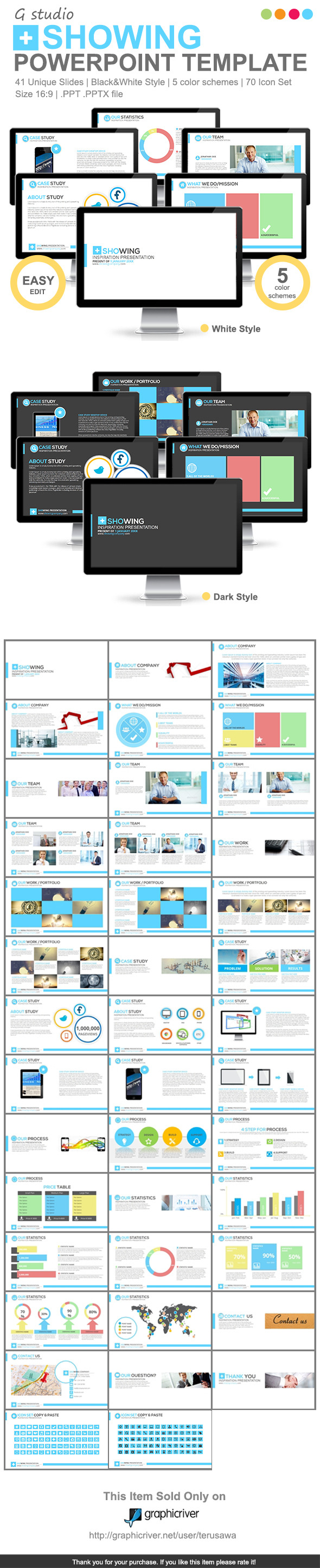 Gstudio Showing Powerpoint Template - Business PowerPoint Templates