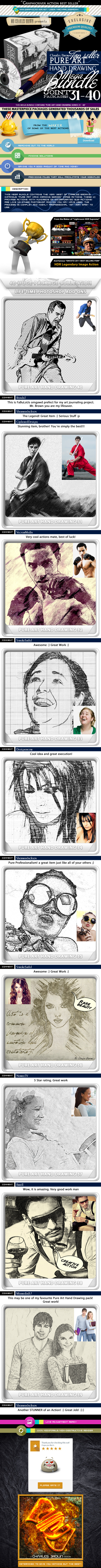 All Charles Brown's Pure Art Hand Drawing Bundle 4 - Photo Effects Actions