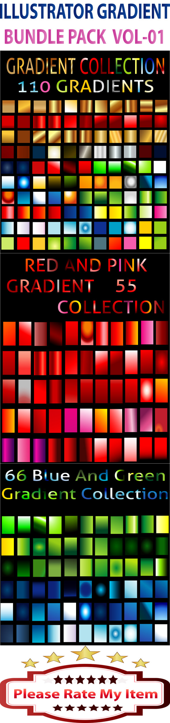 Illustrator Gradient Bundle Pack Vol-1