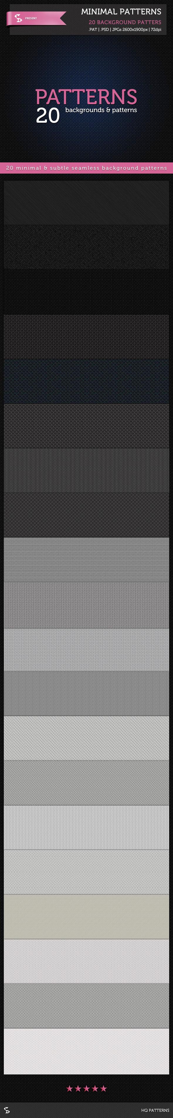 20 Minimal Patterns Subtle Background Patterns