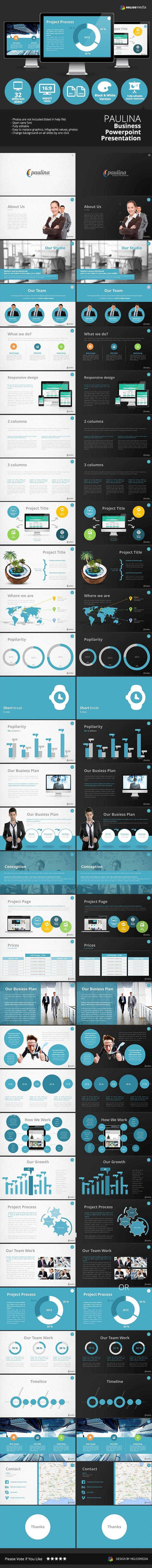 Paulina Business Powerpoint Presentation - Business PowerPoint Templates